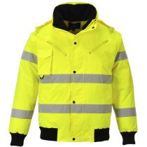 Portwest C467 Hi-Vis 3-in-1 Bomber Jacket - Available in Yellow or Orange