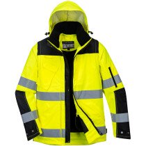 Portwest C469 Pro Hi-Vis 3-in-1 Jacket - High Visibility - Available in Yellow or Orange