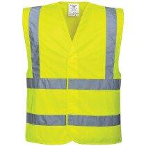 Portwest C470 Hi-Vis Two Band and Brace Vest/Waistcoats PW002 - Size 4XL to 5XL