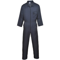 Portwest C803 Nylon Zip Boilersuit / Coverall - Navy Blue