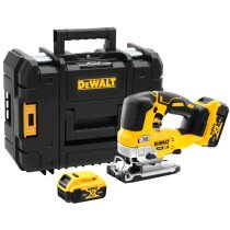 DeWalt DCS334P2-GB Brushless Top Handle Jigsaw with 2 x 5Ah Batteries in TSTAK Case