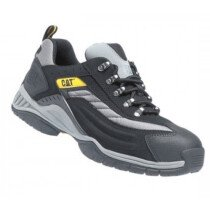 Caterpillar 7025 Moor Black/Silver PU/Nubuck Lightweight Safety Trainer SB SRA