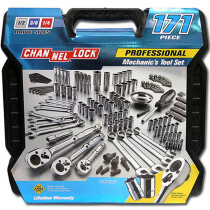 Channellock CHL39053 171 Piece 1/2in, 3/8in and 1/4in Mixed Drive Socket Set