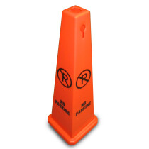 "JSP JCP124-900-800 Orange 35"" Safety Floor Cone 'No Parking' Keyhole Type"