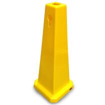 "JSP CLOFF1120 Yellow 25"" Safety Floor Cone Keyhole Type"