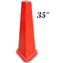 """JSP CLOFF1204 Orange 35"""" Safety Cone Keyhole Type"""