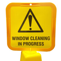 JSP Lamba CLOFF1238 'Window Cleaning' Safety Message Label 21cm For Lock-In Sign Holder
