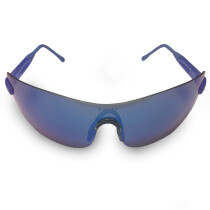 JSP Iles Azure Blue Mirrored Safety Spectacle