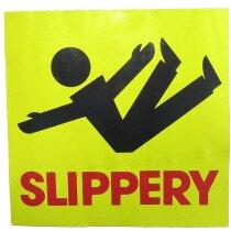 JSP Lamba CLJA044 'Slippery' Safety Message Label 21cm For Lock-In Sign Holder