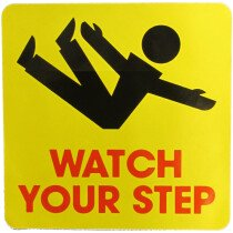 JSP Lamba CLJA045 'Watch Your Step' Safety Message Label 21cm For Lock-In Sign Holder