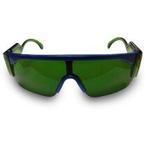 JSP ILES Monospec 2 Safety Spectacles with Green Gas Welding Shade 3 Lens