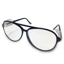 JSP ILES 'Rapier' Safety Spectacles Black Frame Clear Scratch-Retistant Lens Glasses
