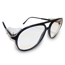JSP ILES SE20 'Palermo' Safety Spectacles Navy Blue Frame Clear Lens Glasses