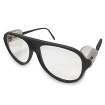 JSP ILES Amazon Safety Spectacles Black Frame Clear Lens Glasses