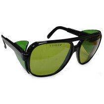 JSP Iles D-4GN-BLACK Pioneer Green Tinted Lens Black Frame Safety Spectacle