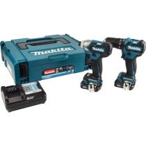 Makita CLX205AJ 10.8V 2-Piece Combo Kit CXT with 2x 2.0Ah Batteries in MakPac Stacking Case