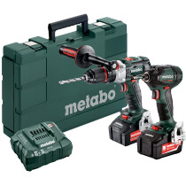 Metabo Combo Set 2.1.15 18v Brushless Twin Kit with 2 x 4.0Ah Batteries
