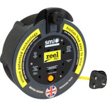 SMJ CP0813 8 Metre 4 Way Extension Reel with Thermal Cut Out 13A