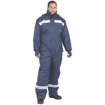 Portwest CS12 Heavy Duty Cold Store Coverall All-in-One - Ultimate Coldstore Protection - Navy Blue
