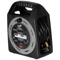 SMJ CT1513 15m 13amp 4-Socket Power Extension Cable Cassette