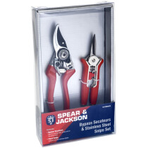 Spear and Jackson CUTTINGSET6 Bypass Secateurs and Stainless Steel Snips Set