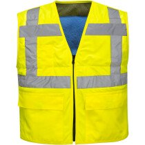 Portwest CV02 High Vis Cooling Vest High Visibility - Available in Orange or Yellow