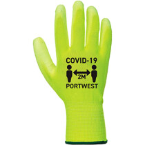 Portwest CV20 Covid PU Palm Glove Yellow/White