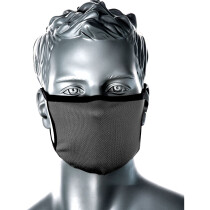 Portwest CV30 3 Ply Fabric Face Mask-Graphite Grey - Now with toggle adjustable ear loops