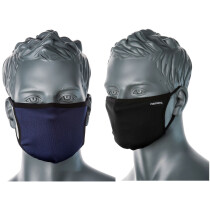 Portwest CV30 3 Ply Fabric Face Mask - Navy Blue or Black