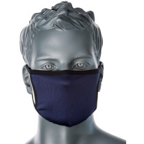Portwest CV30 3 Ply Fabric Face Mask-Navy Blue