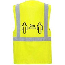 Portwest CV76 Social Distancing Executive Vest 2m Yellow