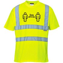 Portwest CV78 Social Distance Hi-Vis T-Shirt Yellow