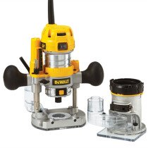 "DeWalt D26204K 1/4"" Plunge and Fixed Base Combination Router in Kitbox 900W"