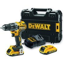 DeWalt DCD791D2 18V XR Brushless Compact Drill/Driver with 2x 2.0Ah Batteries in TSTAK Case
