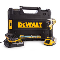 Dewalt DCF888D2B-GB 18V XR Brushless Tool Connect Blue Tooth Impact Driver  with 2 x 2.0Ah Batteries in TSTAK Box