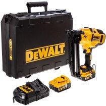 Dewalt DCN660P2-GB 18v Li-ion Cordless 16g Second Fix Nail Gun with 2 x 5.0Ah Batteries in Carry Case
