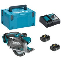 Makita DCS552RTJ 18V Metal Saw 136mm LXT with 2x 5.0Ah Batteries, DC18RC Charger & Makpac Type 3 Case