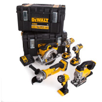 Dewalt DCK694P3 18V Brushless 6 Piece Kit with 3x 5.0Ah batteries in Tough System Cases