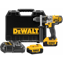 DeWalt DCD985M2-GB 18V XR 3-Speed Combi Drill with 2x 4.0Ah Batteries in HD Kitbox