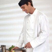 Denny DD08 Chefs Long Sleeve Jkt White DD08