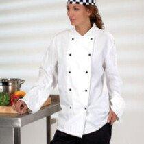 Denny DD20 L/Slv L/Wgt Chefs Jkt White DD20