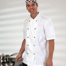 Denny DD20S S/Slv L/Wgt Chefs Jkt White DD20S