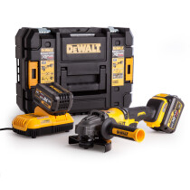 DeWalt DCG414T2-GB 54V XR Flexvolt 125mm  Angle Grinder with 2x 6.0Ah Batteries in Tstak Case