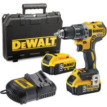 DeWalt DCD791P2 18V XR Brushless Compact Drill/Driver with 2x 5.0Ah Batteries in TSTAK HD Kitbox