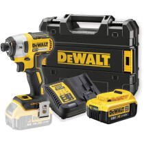 DeWalt DCF887M1-GB XR 18V Brushless Impact Driver with 1 x 4.0Ah Battery in Tstak Kitbox