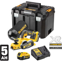 Dewalt DCP580P2 18v XR Li-ion Planer with 2 x 5.0Ah Batteries In TSTACK Carry Case