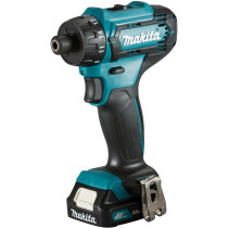 Makita DF033DWAE 12Vmax Drill Driver CXT with 2x BL1021B Batteries, 1x DC10WD Charger and Carry Case