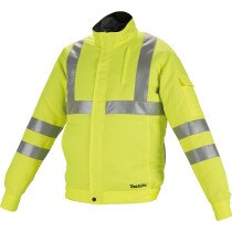 Makita DFJ214Z Body Only Fan Jacket 10.8v - 18v (Vest Only) Fluorescent Yellow