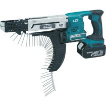 Makita DFR750RME 18v Auto Feed Screwdriver with 2 Batteries