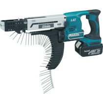 Makita DFR750RTE 18v Auto Feed Screwdriver with 2 Batteries